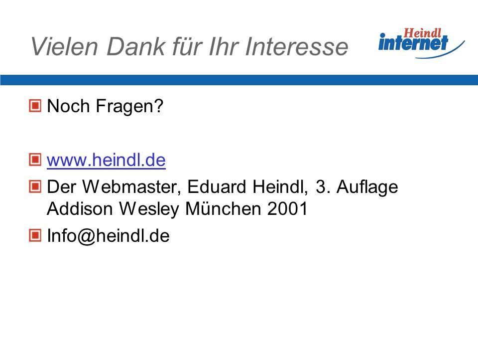 Vielen Dank für Ihr Interesse Noch Fragen. www.heindl.de Der Webmaster, Eduard Heindl, 3.