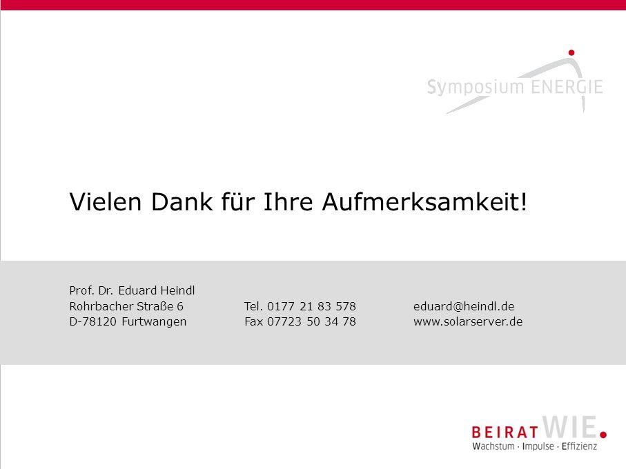 Vielen Dank für Ihre Aufmerksamkeit! Prof. Dr. Eduard Heindl Rohrbacher Straße 6Tel. 0177 21 83 578eduard@heindl.de D-78120 FurtwangenFax 07723 50 34