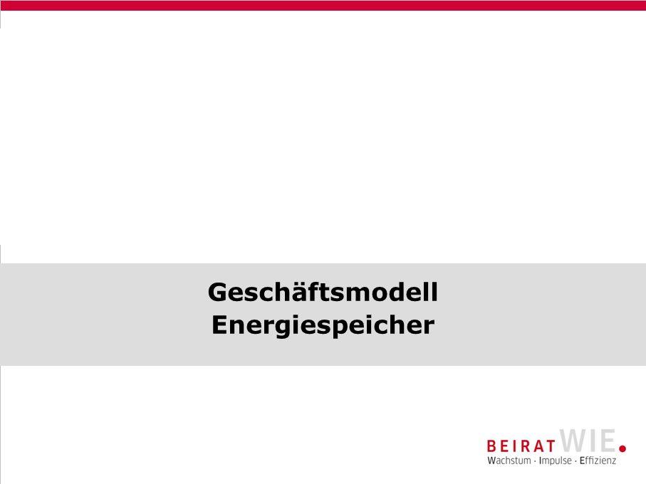 Geschäftsmodell Energiespeicher 17.-18.11.2009