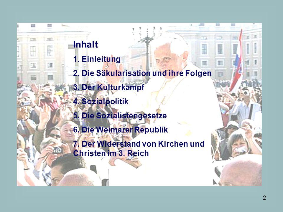 3 1.Einleitung Die Katholiken in Deutschland (ohne Österreich) sind die katholischen Christen die als einzelne Subjekte handeln nicht im Sinne einer Organisation, sondern geprägt von einem bestimmten katholischen Milieu.