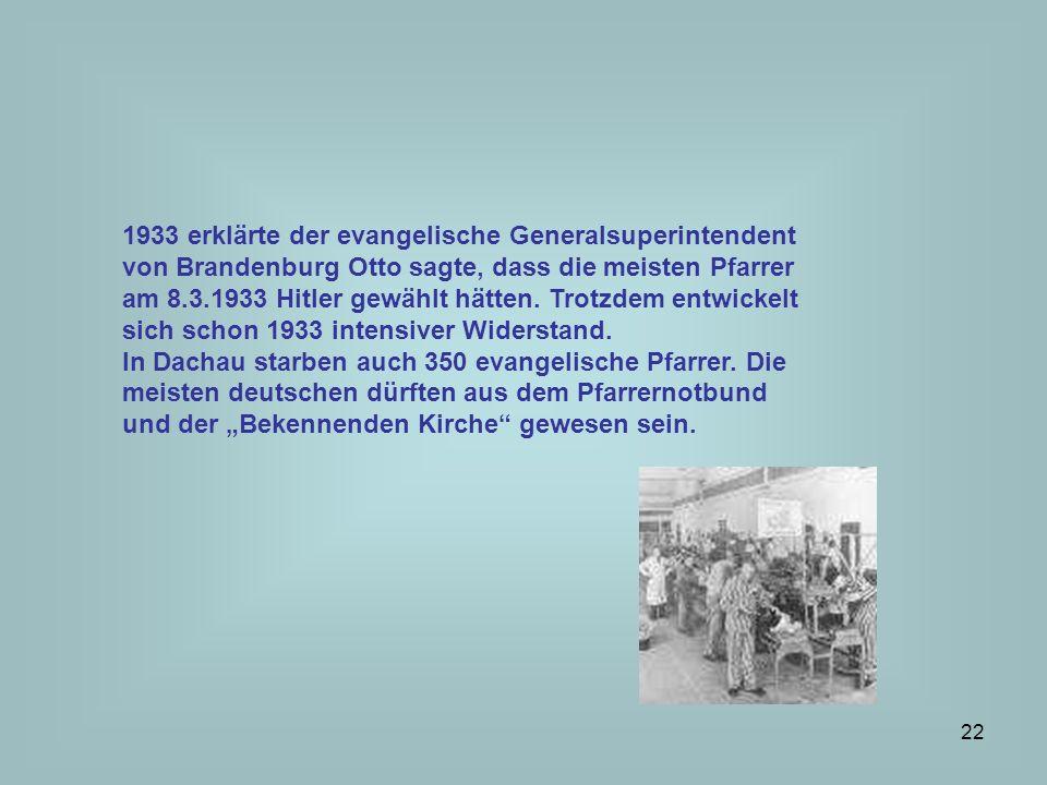 23 Kirchenleitende Amtsträger Vor 1933 hatten die Bischöfe die Wahl der NSDAP verboten Mit dem Konkordat 1933 schien die Selbstverwaltung der Kirche gesichert, die Bekenntnisschulen durften weiter bestehen, das Bekenntnis sollte frei sein.