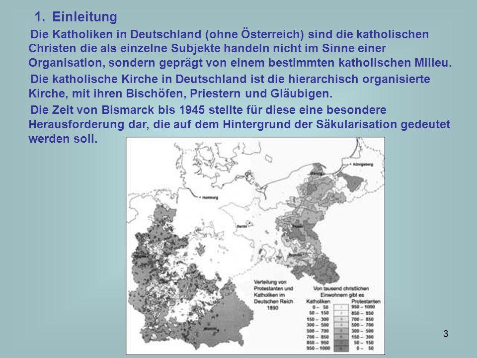 3 1.Einleitung Die Katholiken in Deutschland (ohne Österreich) sind die katholischen Christen die als einzelne Subjekte handeln nicht im Sinne einer O