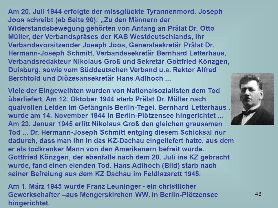 44 Der evangelische Pfarrer und Professor Dietrich Bonhoeffer ging 1940 in den politischen Widerstand und begann konspirative Tätigkeiten als Kurier in der Abwehr .
