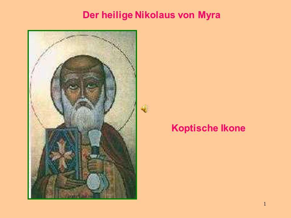 1 Der heilige Nikolaus von Myra Koptische Ikone