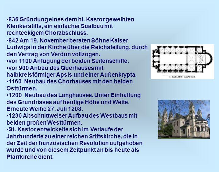 2.2 Stifte und Klöster Die Klerikerkollegien an Kirchen waren ja eine sehr alte Einrichtung.