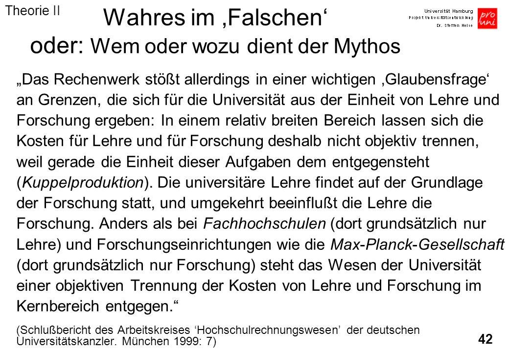 42 Wahres im Falschen oder: Wem oder wozu dient der Mythos Das Rechenwerk stößt allerdings in einer wichtigen Glaubensfrage an Grenzen, die sich für d