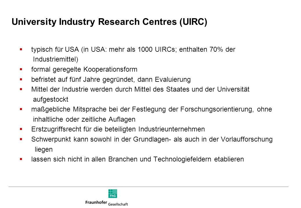 Modelle für Kooperationen zwischen Wirtschaft und Wissenschaft Auftragsforschung Strategisch angelegte Forschungskooperationen Joint Ventures strategi