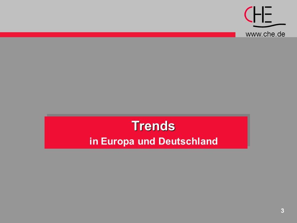 www.che.de 3 Trends in Europa und DeutschlandTrends