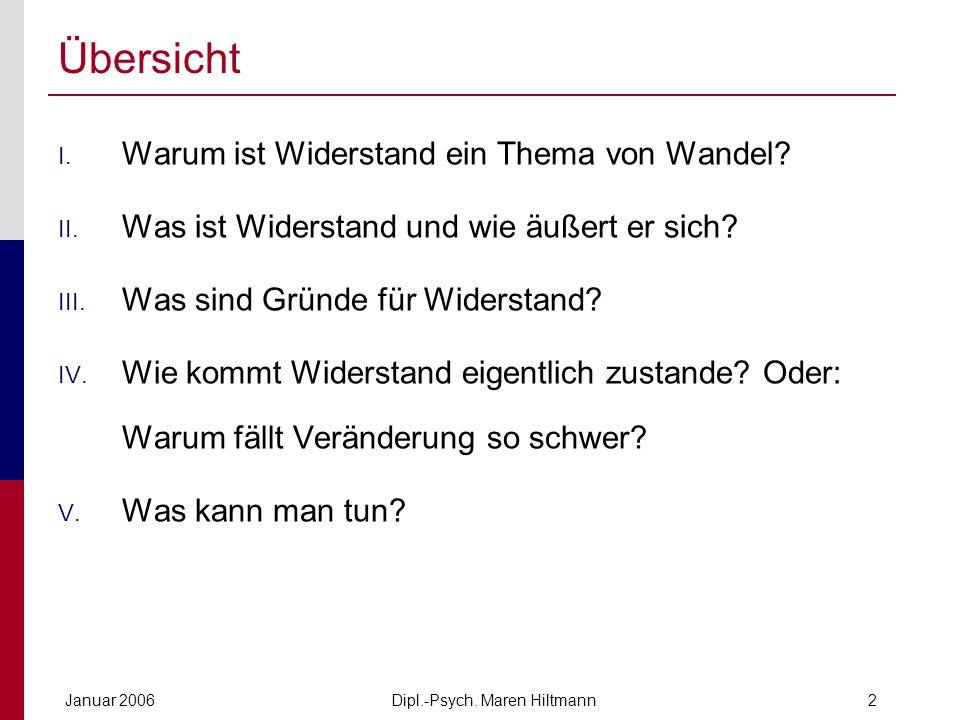 Dipl.-Psych.Maren HiltmannJanuar 20063 I. Change Management - eine Mode.