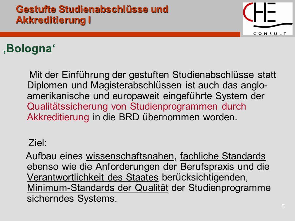 6Akkreditierung Akkreditierung: Genehmigung von neuen Studiengängen und Prüfungsordnungen durch Ministerien in Abhängigkeit von positiven Akkreditierungsentscheidungen.