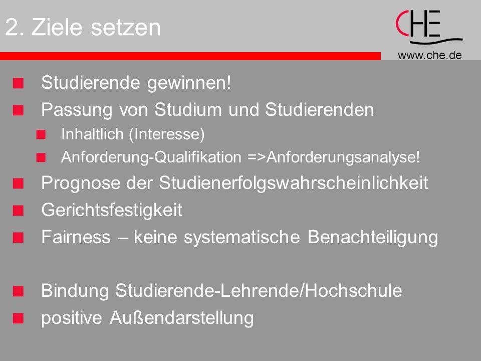 www.che.de 2.Ziele setzen Studierende gewinnen.