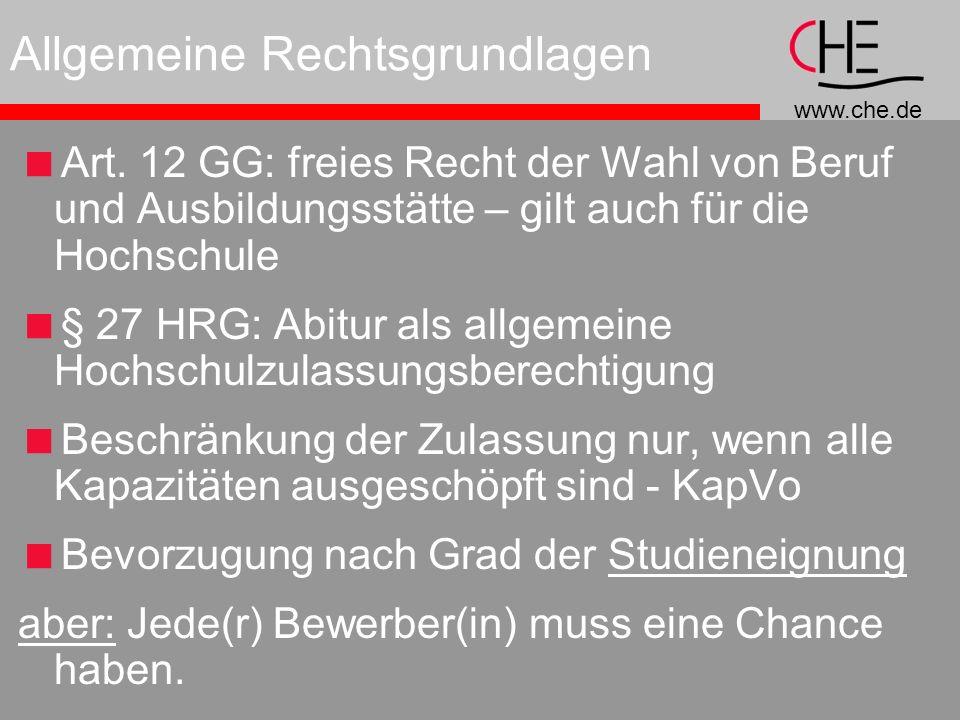 www.che.de Allgemeine Rechtsgrundlagen Art.