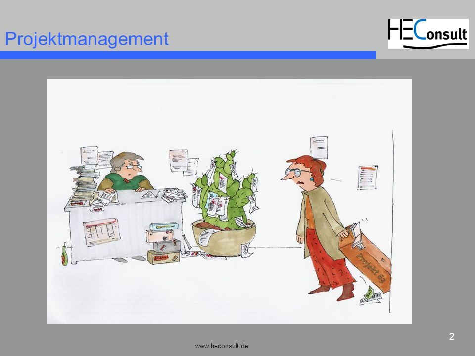 www.heconsult.de 3 Projektmanagement Problemanalyse Projektdesign Team, Personalressourcen Zeitpläne / Projektcontrolling Projektkommunikation Flexibilität Projektsteuerung...