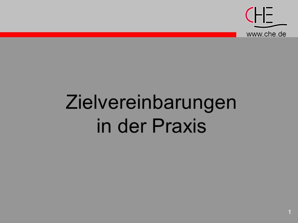 www.che.de 2 Erster Teil: Der Zusammenhang der Instrumente, Überleitung zu ZV Reformen in den Bereichen Organisation, Budgetierung und Zielvereinbarungen sind komplementär; hier ein innovatives Beispiel!