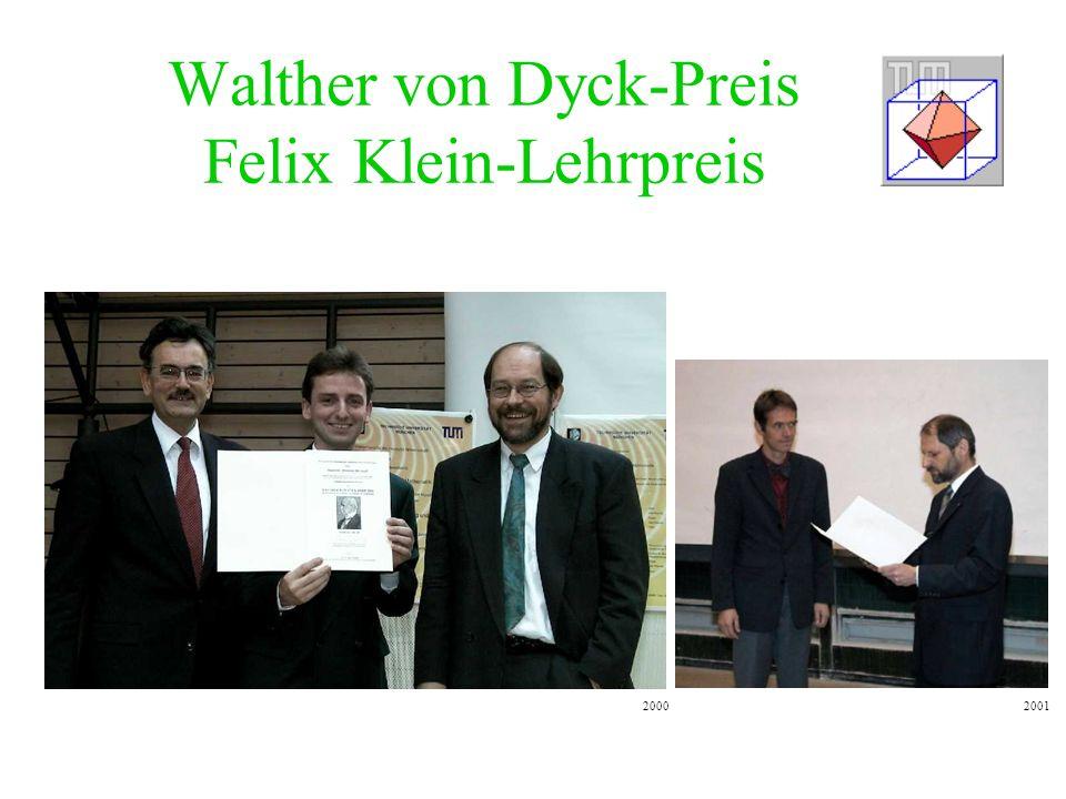 Walther von Dyck-Preis Felix Klein-Lehrpreis 20012000