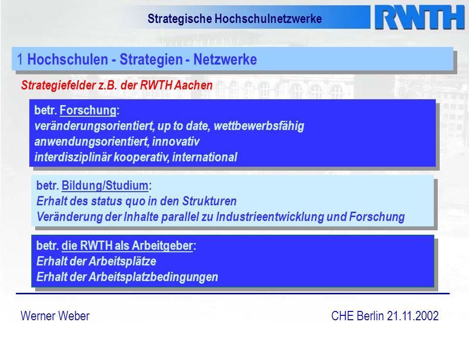 Strategische Hochschulnetzwerke Strategiefelder z.B.