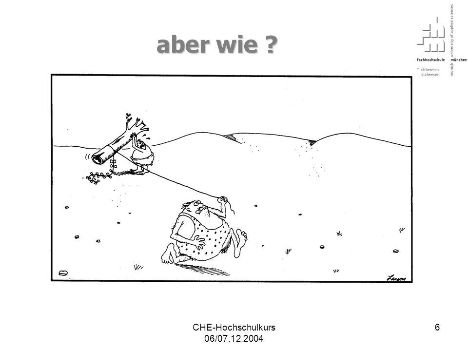 CHE-Hochschulkurs 06/07.12.2004 47 Ergänzungsfolien…..