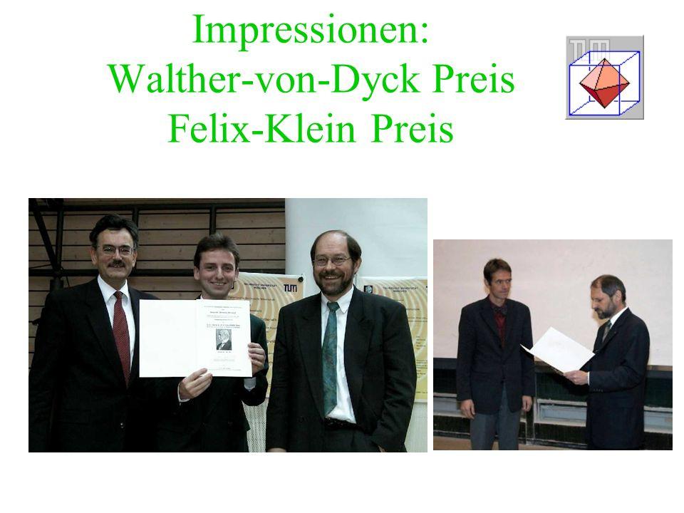 Impressionen: Walther-von-Dyck Preis Felix-Klein Preis