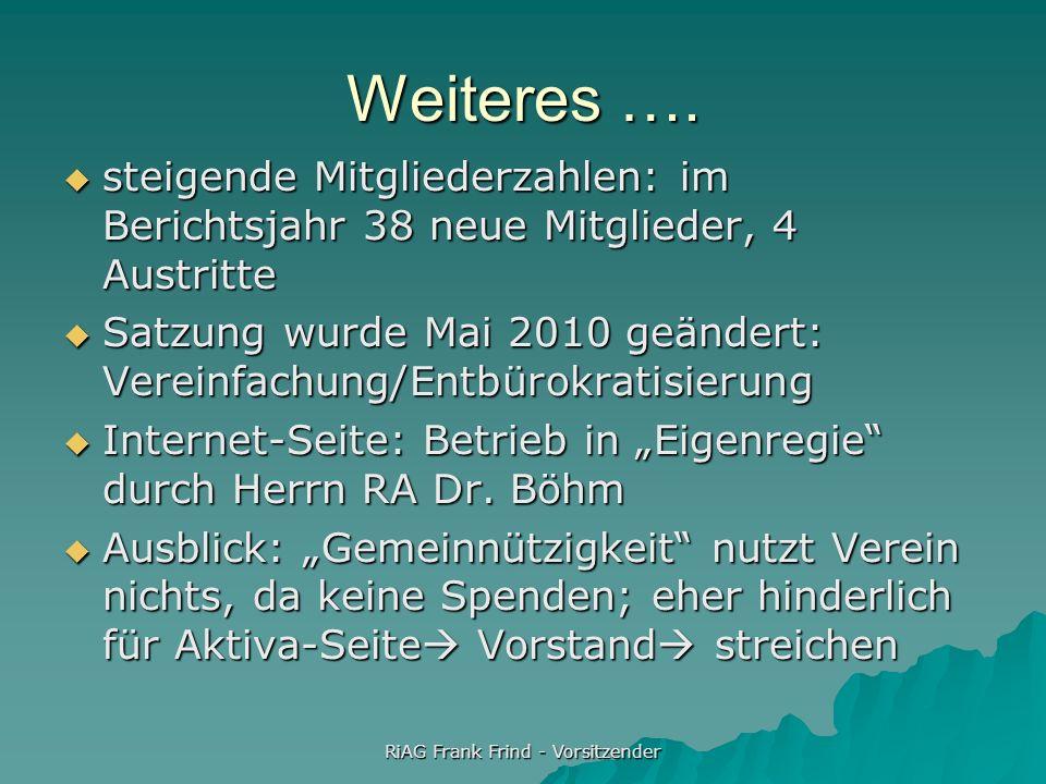 RiAG Frank Frind - Vorsitzender Es folgt … der Kassenbericht … sogleich der Kassenbericht … sogleich der Norddeutsche Insolvenzrechtstag 2012 am 15.u.