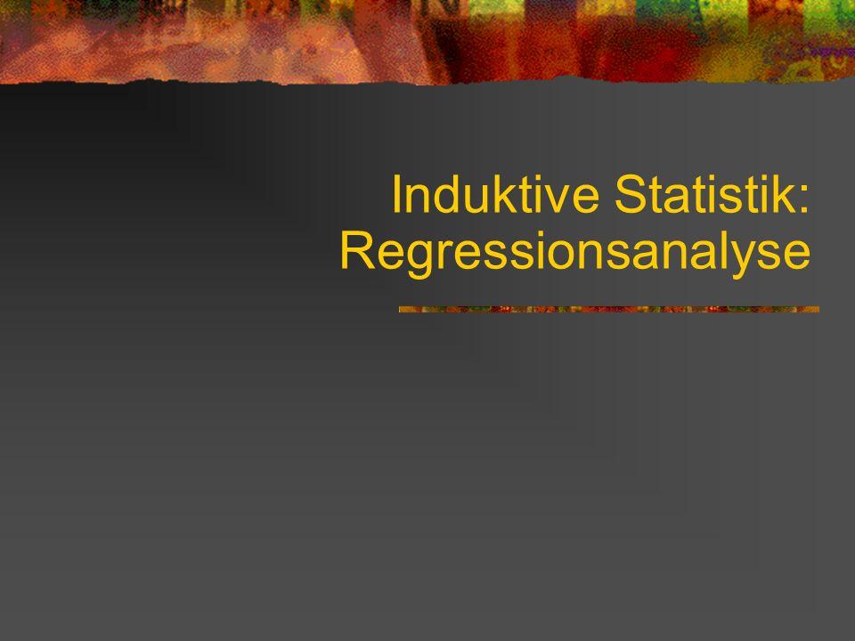 Induktive Statistik: Regressionsanalyse