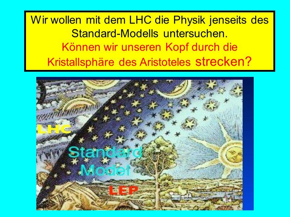 Amand Fassler, Tübingen Wir wollen mit dem LHC die Physik jenseits des Standard-Modells untersuchen. Können wir unseren Kopf durch die Kristallsphäre
