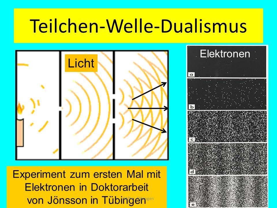 Teilchen-Welle-Dualismus Experiment zum ersten Mal mit Elektronen in Doktorarbeit von Jönsson in Tübingen Licht Elektronen Fäßler, Tübingen