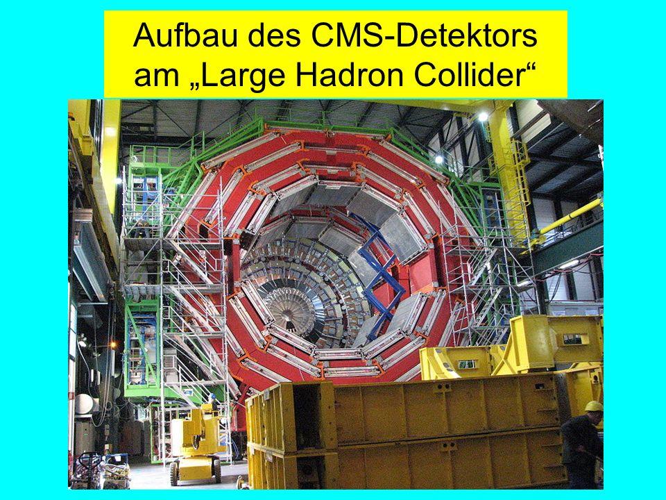Fäßler, Tübingen Aufbau des CMS-Detektors am Large Hadron Collider