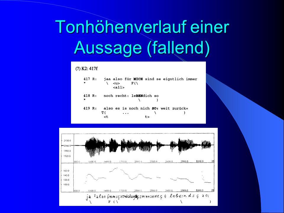 Tonhöhenverlauf einer Aussage (fallend)