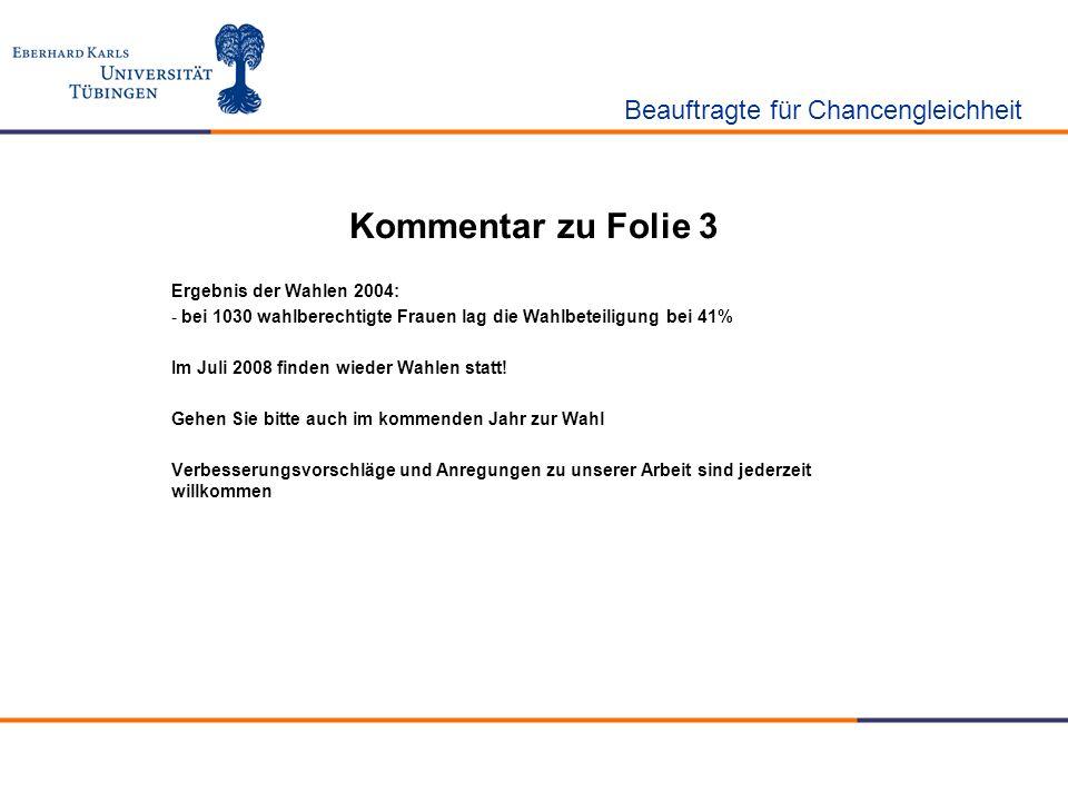 Kommentar zu Folie 3 Ergebnis der Wahlen 2004: - bei 1030 wahlberechtigte Frauen lag die Wahlbeteiligung bei 41% Im Juli 2008 finden wieder Wahlen sta