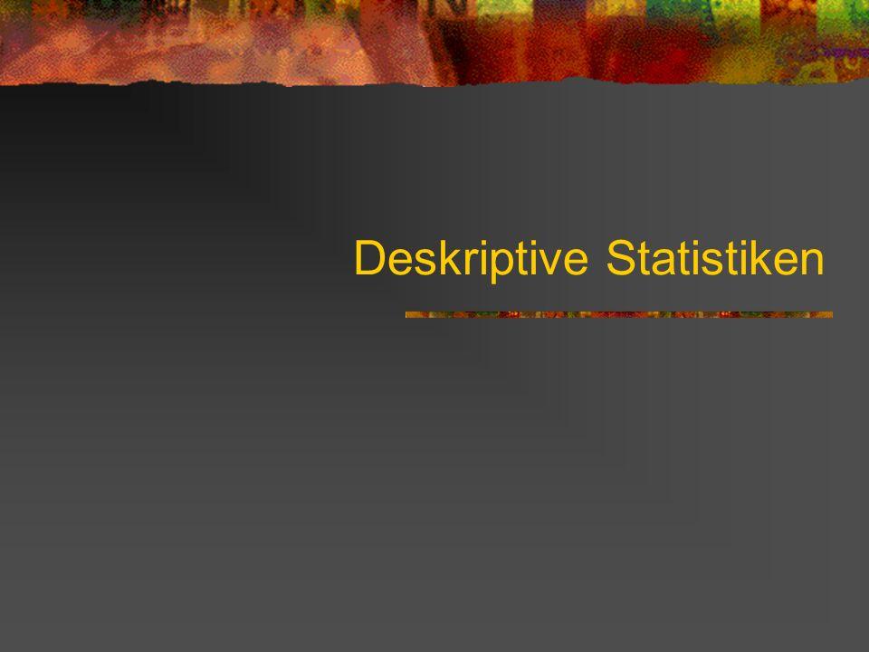 Deskriptive Statistiken
