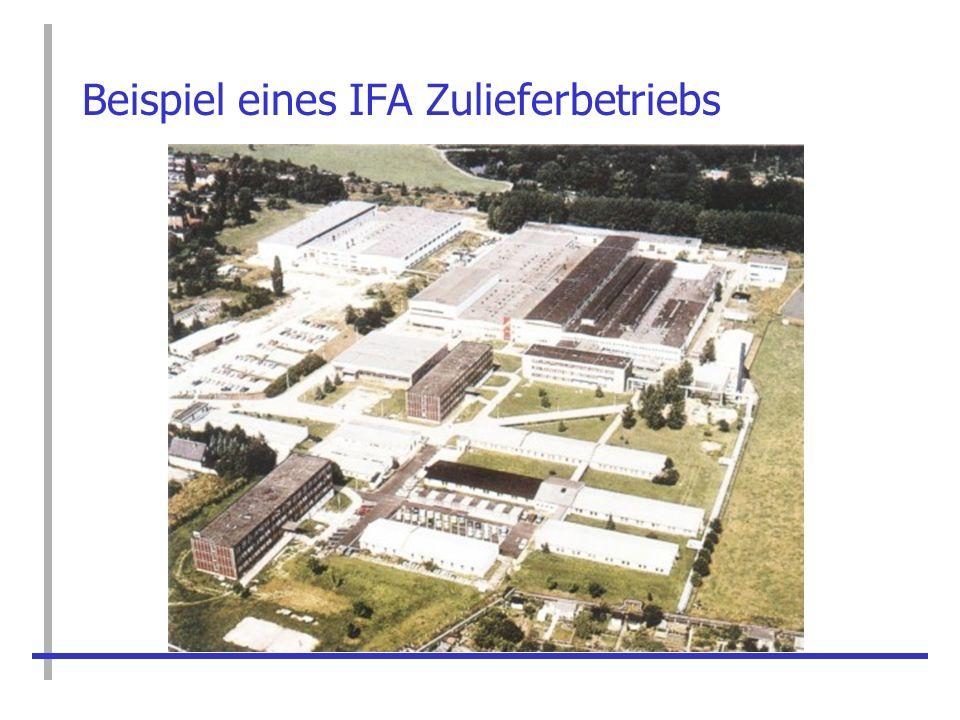 Beispiel eines IFA Zulieferbetriebs