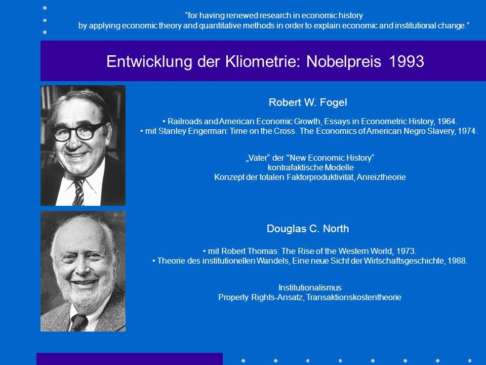 Kliometrische Pionierarbeiten: Entwicklung der Kliometrie: Anfänge Gayer, Arthur D./ Rostow, Walt W./ Jacobson Schwartz, Anna: The Growth and Fluctuat