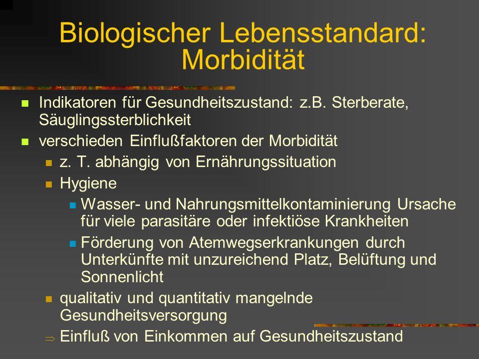 Biologischer Lebensstandard: Körpergröße IV wenn Ernährung limitierender Faktor: KG-Differenzen der mittleren Körpergröße nicht durch Genetik, sondern