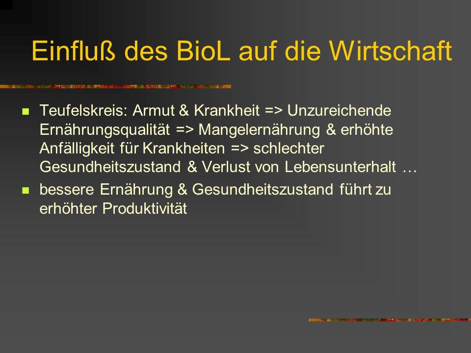 Sozio-Ökonom. Transformation BioL Beispiel Industrialisierung Folge der Industrialisierung: ungleichmäßigere Einkommensverteilung relativer Anstieg de