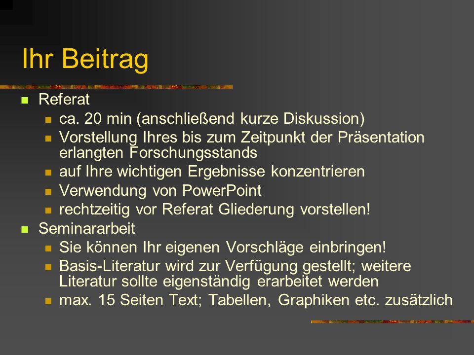 Angewandte ökonometrische Analysetechniken am Beispiel der antiken Wirtschaftsgeschichte Nikola Köpke M.A. nikola.koepke@uni-tuebingen.de Lehrstuhl fü