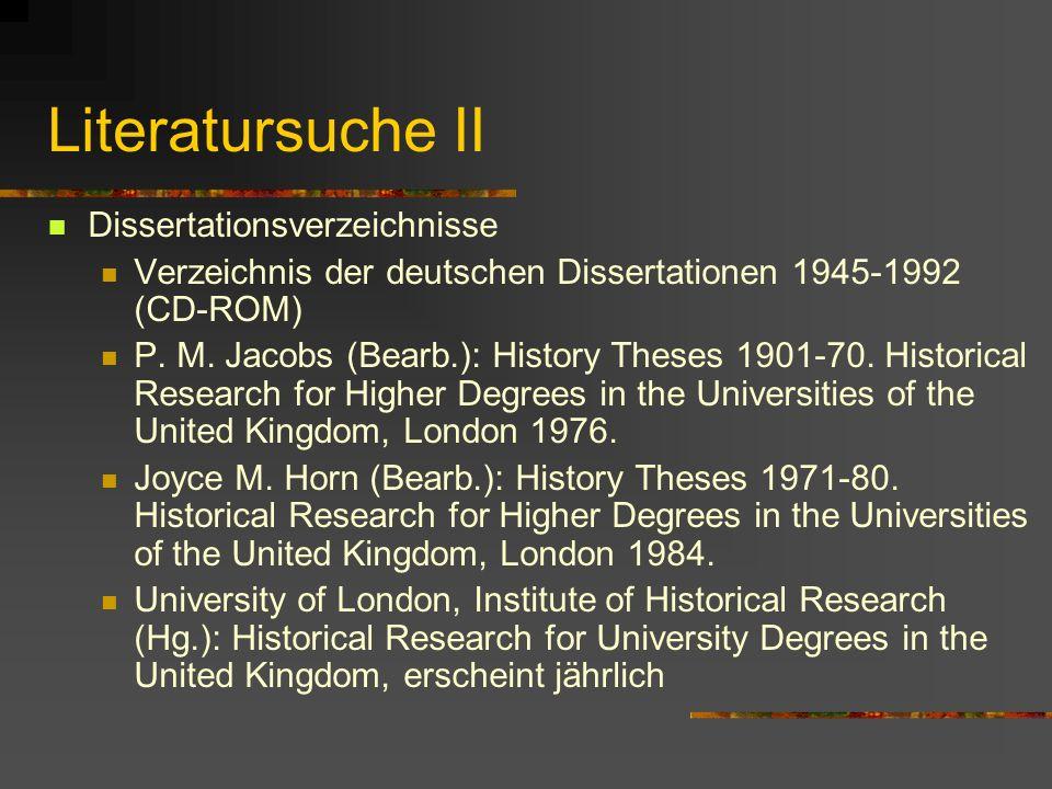 Literatursuche Konversationslexika Speziallexika Gesamtdarstellungen mit Literaturangaben: z.B.: F.-W. Henning (1991ff.), Handbuch der Wirtschafts- un