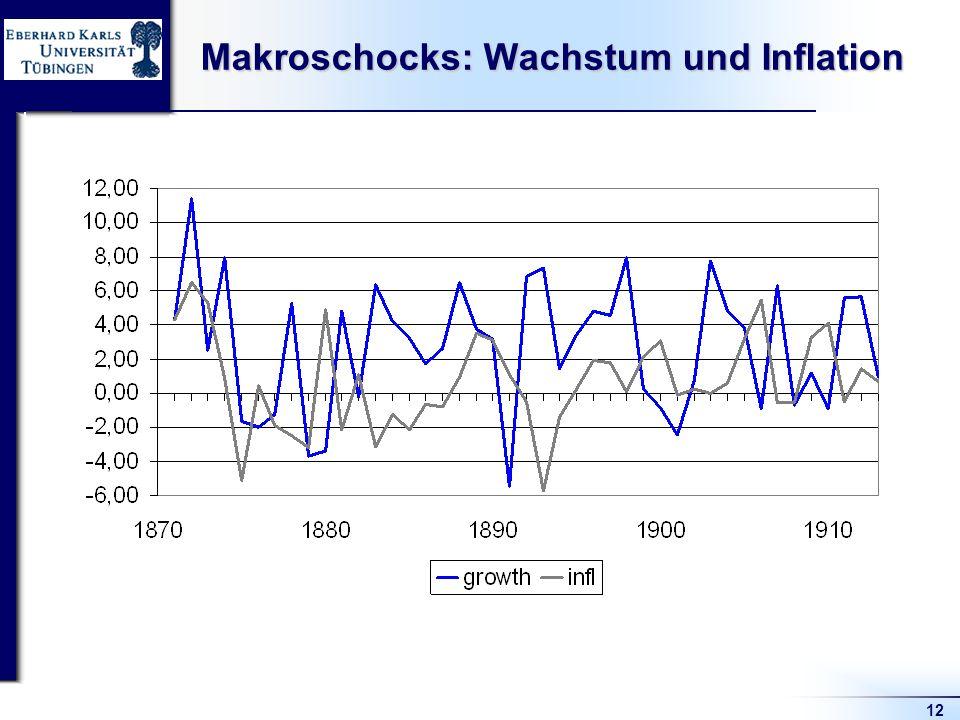 12 Makroschocks: Wachstum und Inflation