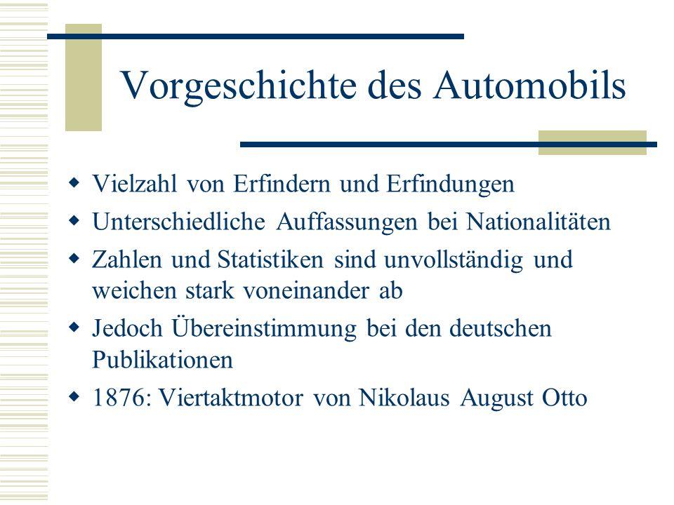 Wirtschafts-und Sozialgeschichte des Autos Warum hat sich die deutsche Erfindung Auto zunächst in Frankreich durchgesetzt.