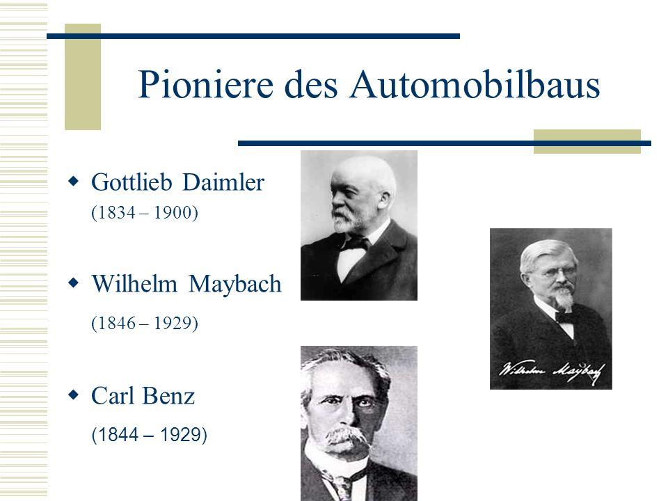 Gründe für den Rückstand in Deutschland THESE: Hat die Automobil-Gesetzgebung in Deutschland die Entwicklung der Industrie gehemmt?.