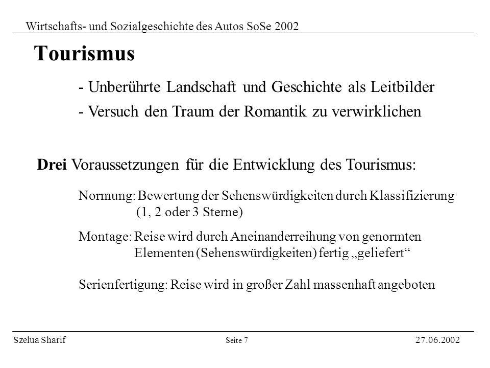 Szelua Sharif27.06.2002 Wirtschafts- und Sozialgeschichte des Autos SoSe 2002 Zielsetzung des Automobils: Seite 6 - Kein Übertrumpfen der Schnelligkei