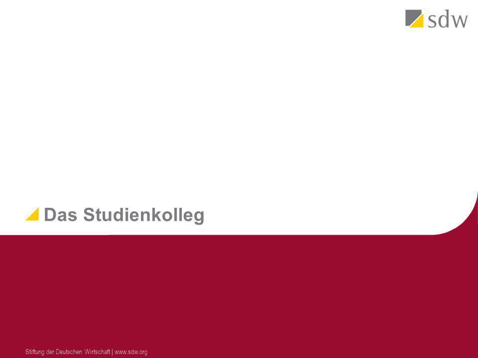 Das Studienkolleg Stiftung der Deutschen Wirtschaft | www.sdw.org