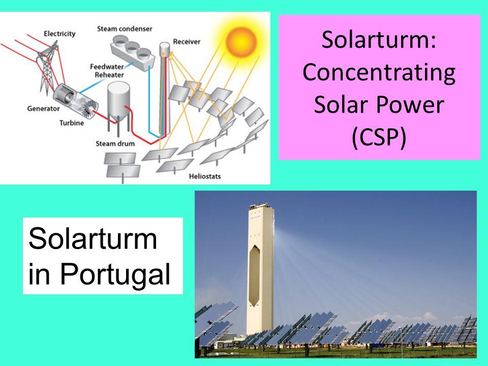 Solarturm: Concentrating Solar Power (CSP) Amand Faessler. Tübingen24 Solarturm in Portugal