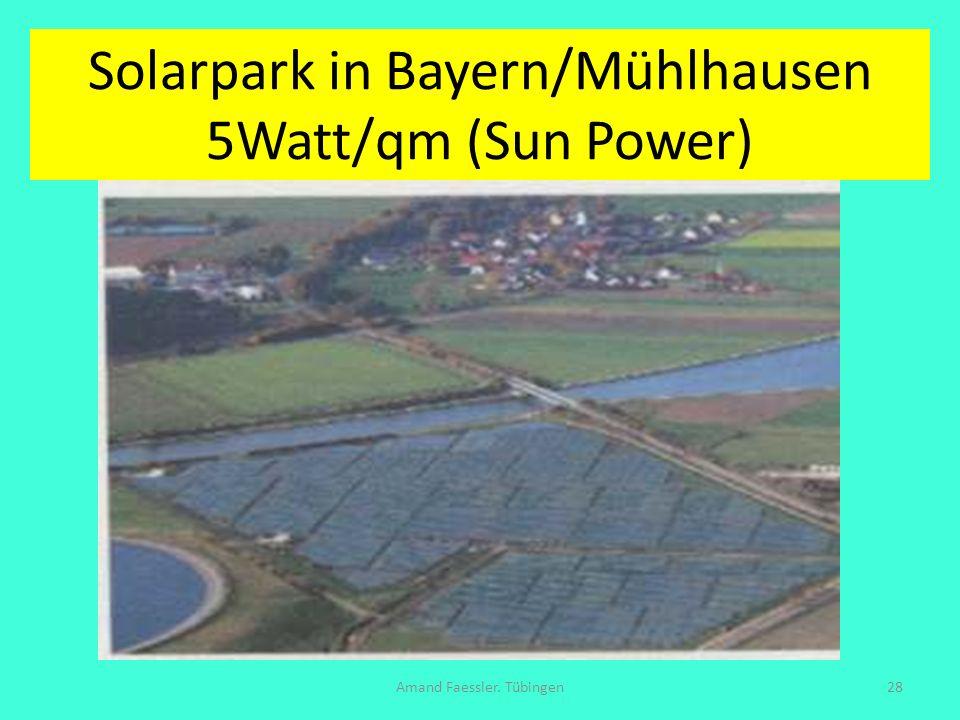 Solarpark in Bayern/Mühlhausen 5Watt/qm (Sun Power) Amand Faessler. Tübingen28