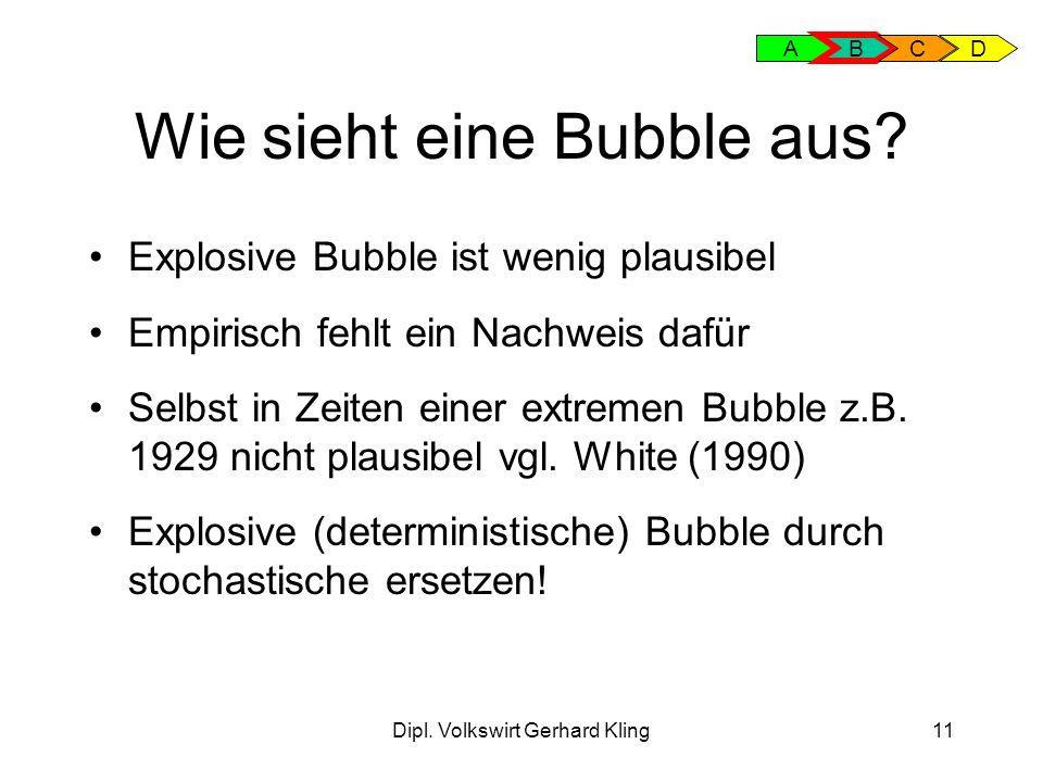 Dipl.Volkswirt Gerhard Kling11 Wie sieht eine Bubble aus.