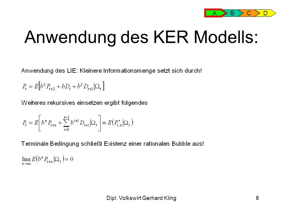 Dipl. Volkswirt Gerhard Kling27 Modell mit Fad: Fads