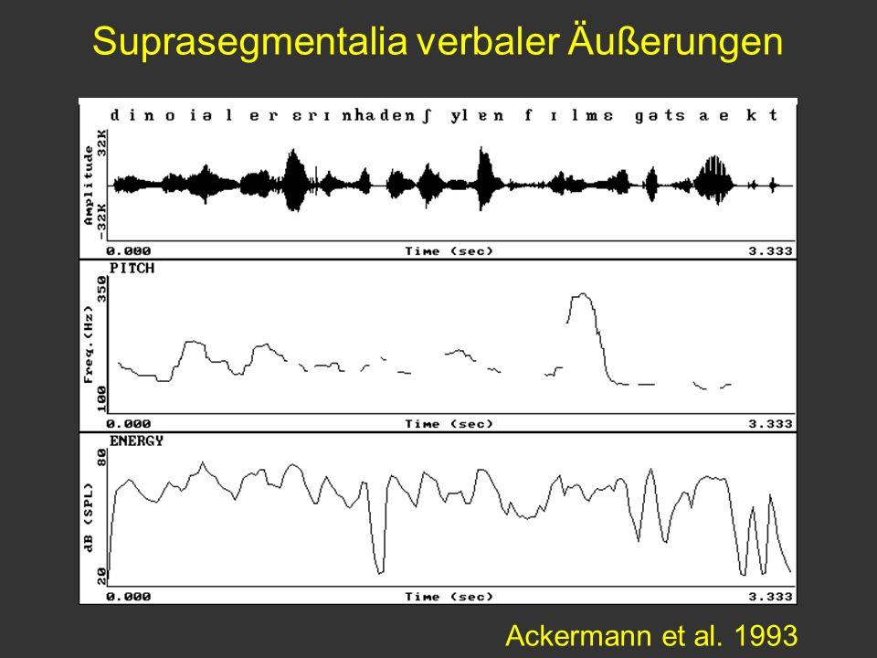 Ackermann et al. 1993 Suprasegmentalia verbaler Äußerungen