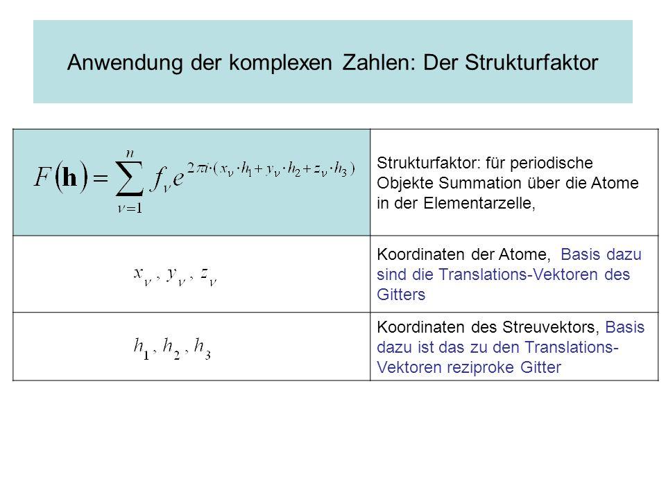 Komplexe Zahlen Imaginäre Zahlen Reelle Zahlen Länge des Vektors: F Phasen winkel φ Sinnvoll, wenn zwei Größen, Betrag und Winkel, mitzuteilen sind: erfordert einen Vektor mit zwei Komponenten Geeignete Codierung von Betrag und Winkel: Komplexe Zahl