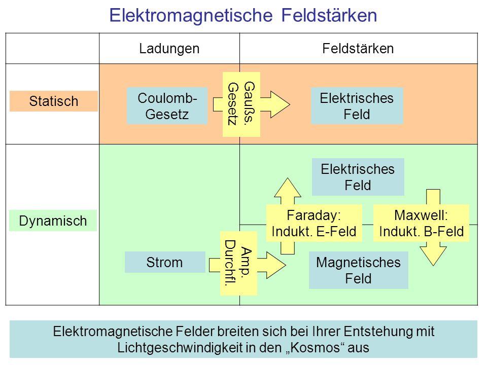 Zusammenfassung Quellen elektromagnetischer Strahlung: Elektrische Schwingkreise, beschleunigte Ladungen –Technischer Wechselstrom bis Mikrowelle Molekülschwingungen, Schwingungen von Atomen in Gasen, Flüssigkeiten und Festkörpern –Infrarotstrahlung Gemeinsame Grundlage: Maxwellsche Gleichungen (Induktion, Ausbreitung der Feldstärken) Elektromagnetische Strahlung bei elektronischen Übergängen –Äußere Schalen: IR-, sichtbares Licht, UV-Strahlung –Innere Schalen: Röntgenstrahlung Elektromagnetische Strahlung bei Kernreaktionen –Gamma Strahlung