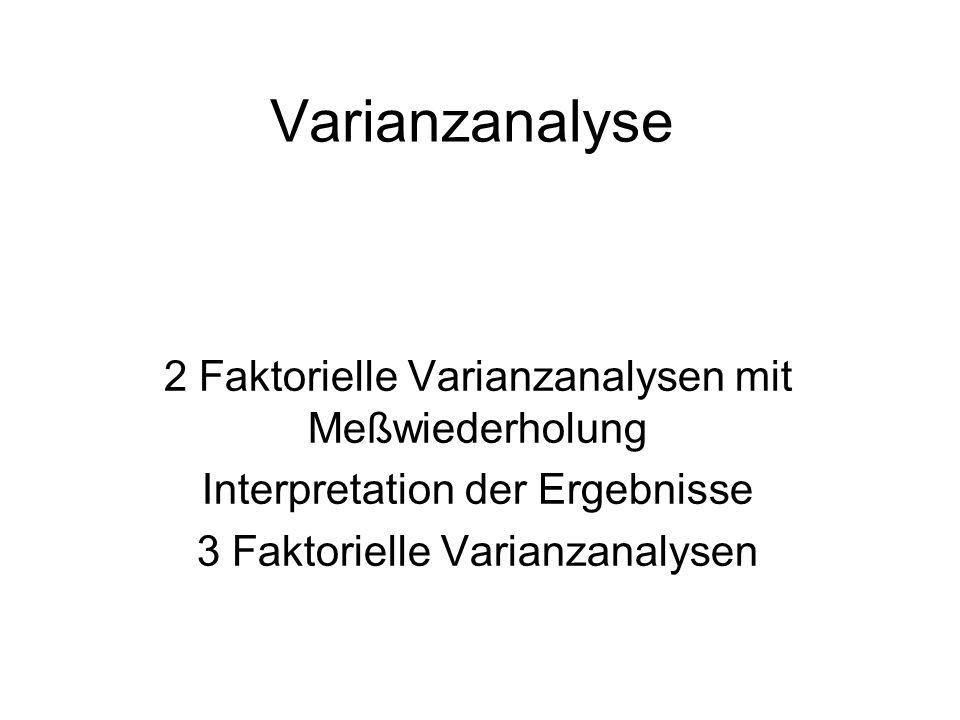 Interpretation der Ergebnisse Einfaktorielle Varianzanalyse: Die Interpretation von einfaktoriellen Varianzanalysen fällt nicht schwer.