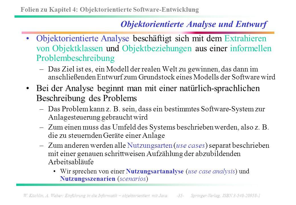 Folien zu Kapitel 4: Objektorientierte Software-Entwicklung W. Küchlin, A. Weber: Einführung in die Informatik – objektorientiert mit Java -35- Spring